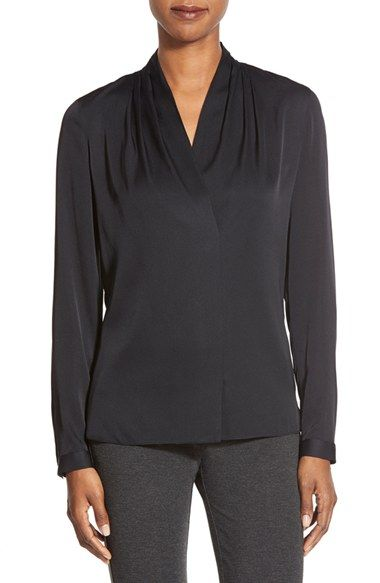 Kobi Halperin 'Gabrielle' V-Neck Silk Georgette Blouse available at #Nordstrom