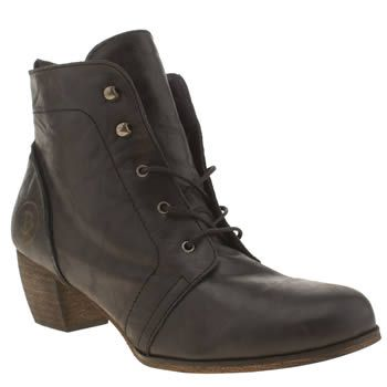 womens red or dead black exam boots