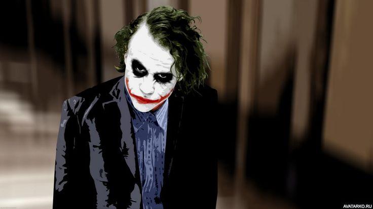 """Джокер из фильма """"Тёмный рыцарь"""" - аватары, картинки, фотографии"""