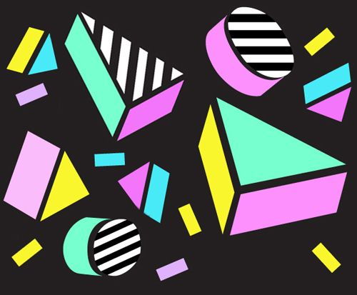print & pattern blog - camille walala - 1980s style !