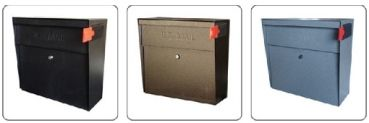 Mail Boss Mailboxes | Ultimate High Security Locking Metro Wall Mount Mailbox in Bronzed Copper | Residential Mailbox