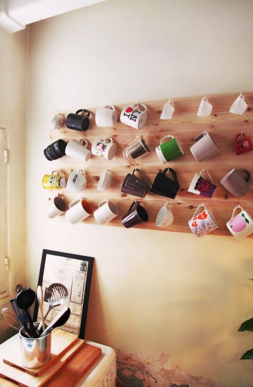 Fun way to display and organize those coffee mugs you love!