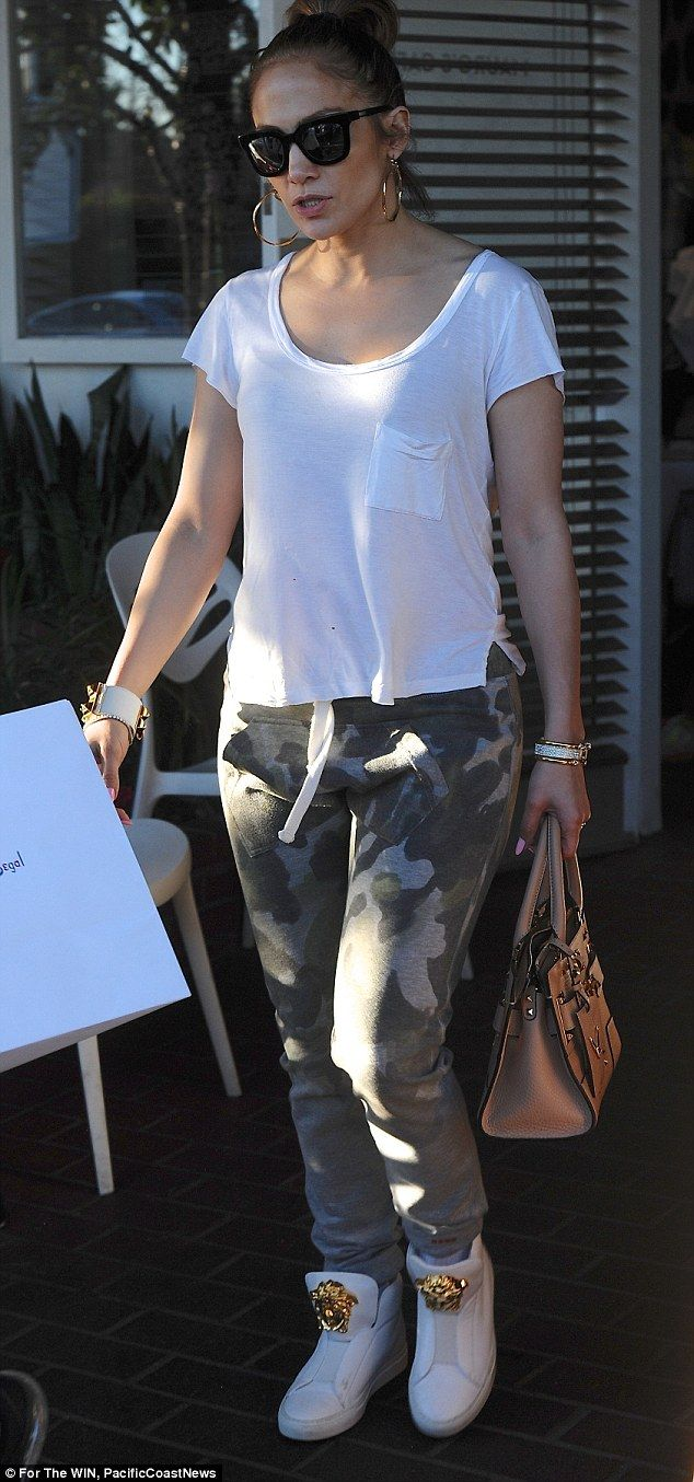 Slaying! Jennifer Lopez looked cooler than ever as skipped the Grammys to hang out with he...