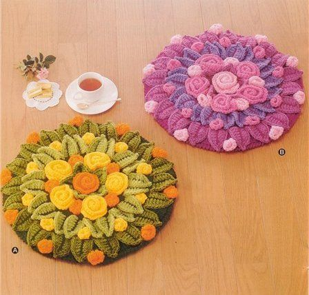 crochet rugs, but I like the idea for a trivet/table centre or chair pad