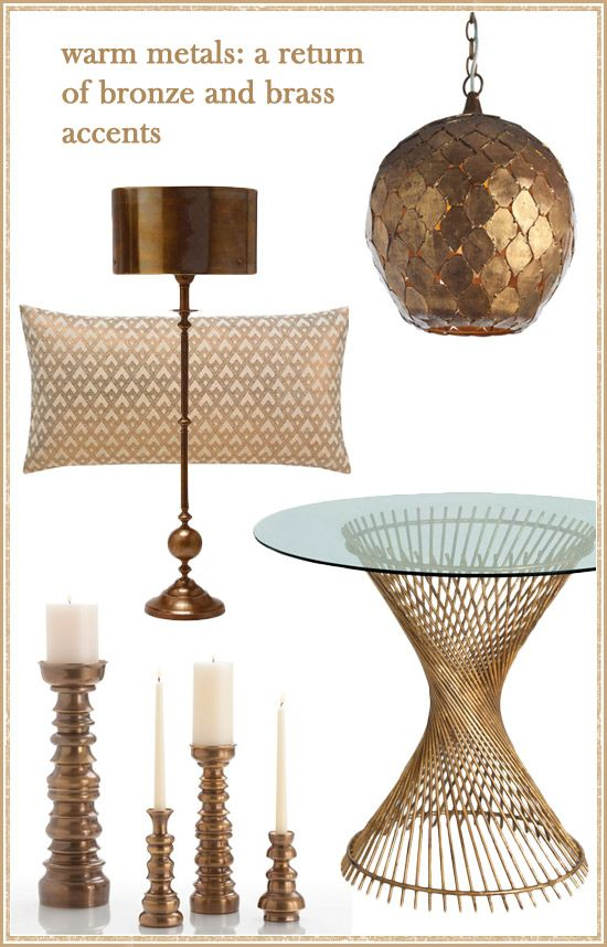 Warm Metals Are Coming Back Bronze And Br Accents 2017 Trendshome Decorationdesign