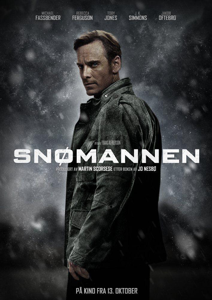 James' character is Filip Becker according to his CV - The above is not an official poster. It was made by Norweigian graphic designer, Vidar Aune http://www.dagbladet.no/kultur/falsk-filmplakat-for-snomannen-gikk-viralt---det-sa-ut-som-en-film-jeg-hadde-lyst-til-a-se/66901887