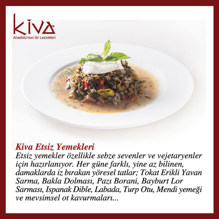 Kiva Ankara'nın etsiz yemeklerinden Tokat Erikli Yavan Sarma, Pazı Borani, Ispanak Dible ve daha birçok tat, sebze severlere ve vejetaryenlere de birbirinden farklı yöresel lezzetler sunuyor…  #kivaankara #ankara #turkishrestaurant #turkishcuisine #cuisine #restoran