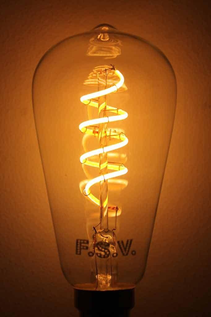 LED Bulb - Teardrop Spiral LED Filament Bulb 4W 2200K use in bedroom lights pendant lights kitchen lights wall lights table lamps and floor lamps