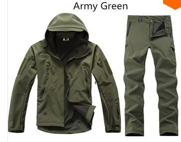 Camouflage hunting clothes Shark skin soft shell lurkers tad v 4.0 outdoor tactical military fleece jacket+ uniform pants suits-in Jackets from Men's Clothing & Accessories on Aliexpress.com | Alibaba Group