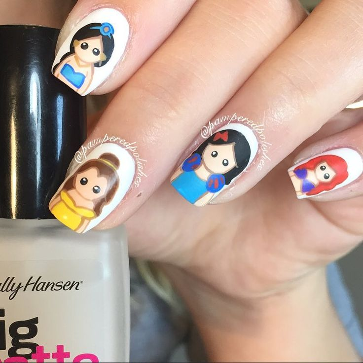 Princess Nail Art: 1000+ Images About Disney Inspired Nails And Makeup On