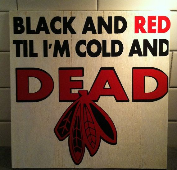 Black And Red Til I'm Cold and Dead by HseofpaineDesign on Etsy, $30.00