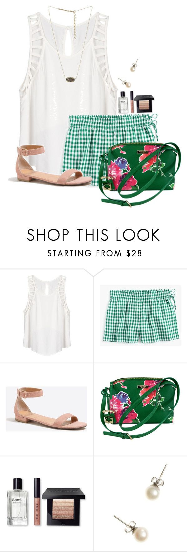 """""""When you're supposed to be at school but you're shopping at vineyard vines"""" by flroasburn on Polyvore featuring Lush Clothing, J.Crew, Kate Spade, Bobbi Brown Cosmetics and Kendra Scott"""