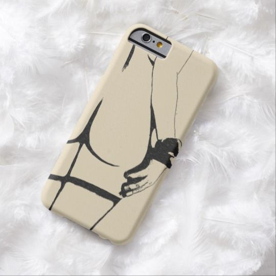 Sexy black and white, rear view, erotic booty call barely there iPhone 6 case