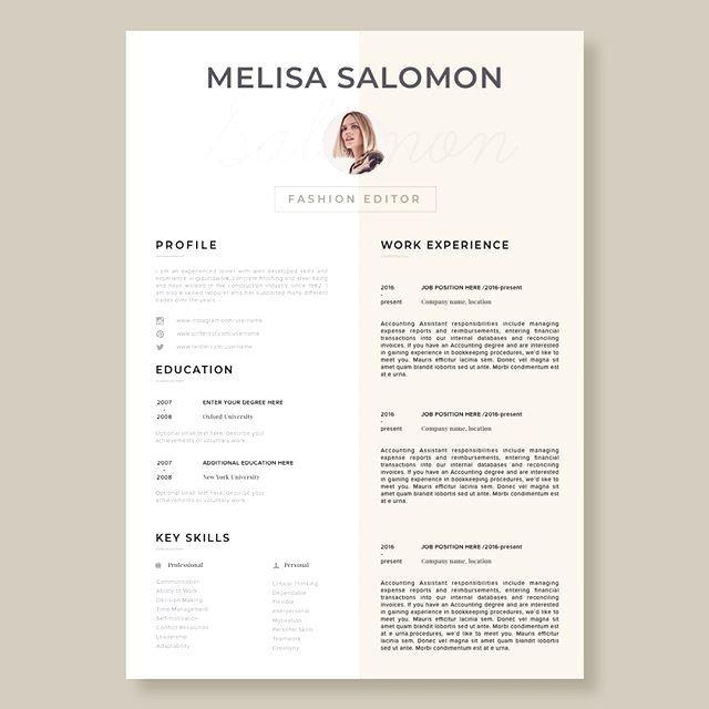 Stand Out With This Resume Template Cv Template Florence Welcome To The Resume Bewerbung Lebenslauf Lebenslauf Design Kreativer Lebenslauf
