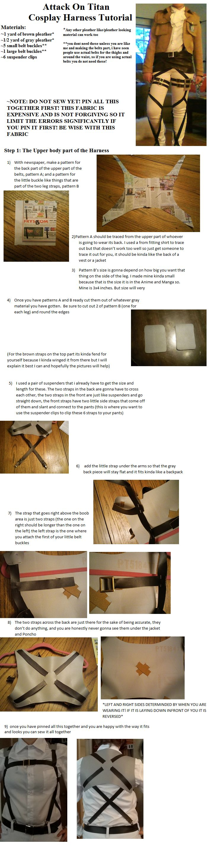 Attack on Titan Harness Tutorial Part 1 by CasuallyDisregarding.deviantart.com on @deviantART
