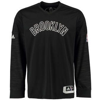 adidas Brooklyn Nets Black On-Court Long Sleeve T-Shirt