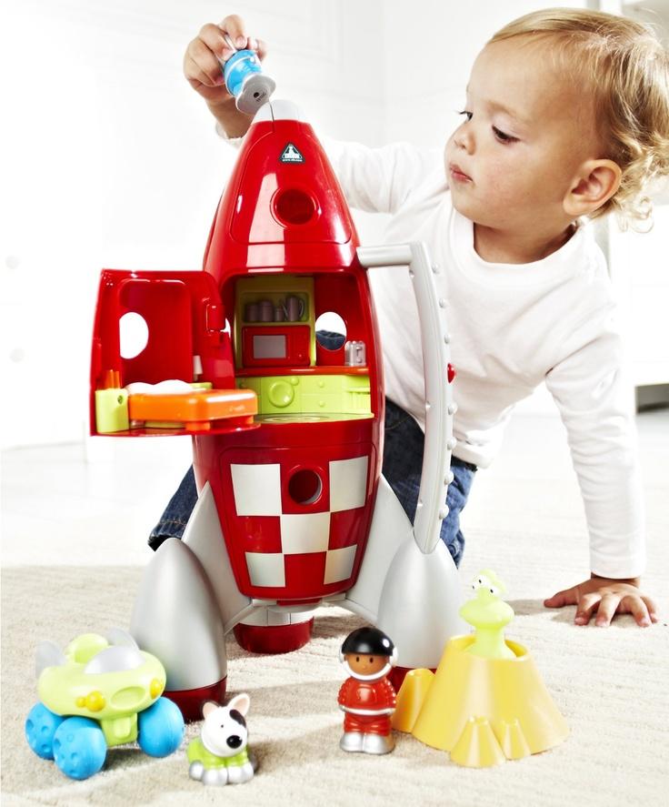 HappyLand Light and Sound Lift Off Rocket : HappyLand Light and Sound Lift Off Rocket : Early Learning Centre UK Toy Shop