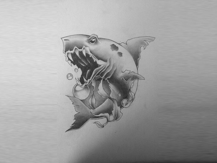 Tribal Shark Tattoo