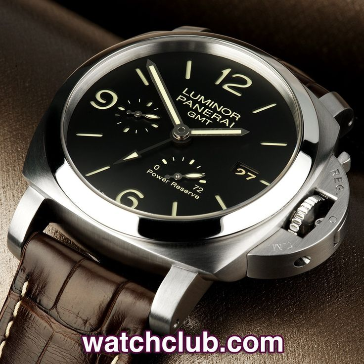 Panerai Luminor 1950 GMT - 'Power Reserve' REF: PAM 00321 | Year 2011 - This 44mm PAM 321 Panerai 1950 GMT Power Reserve is in excellent condition, and presented with its original box and papers...Powered by Panerai's superb in-house automatic calibre P.9002 with 72hr power reserve, this model sports a classic Panerai luminous sandwich dial with a GMT hand and power reserve indicator on the dial - for sale at Watch Club, 28 Old Bond Street, Mayfair, London