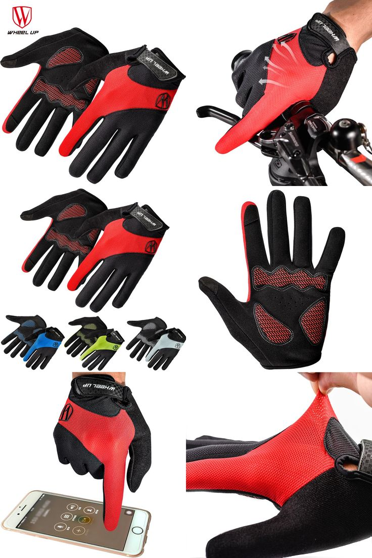 [Visit to Buy] WHEEL UP 2017 Bike Bicycle Gloves Full Finger Touch Screen Lycra Men Women's MTB Bike Gloves Breathable Summer Cycling Mittens #Advertisement