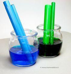 Acquerelli con pennarelli scarichi Immergere i pennarelli in acqua per 2-3 giorni!