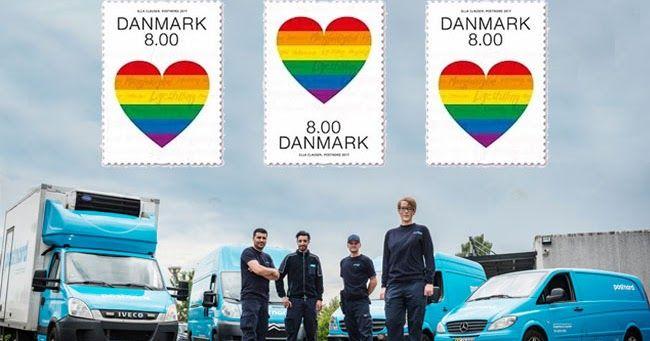 I nuovi francobolli danesi dedicati alla comunità lgbt