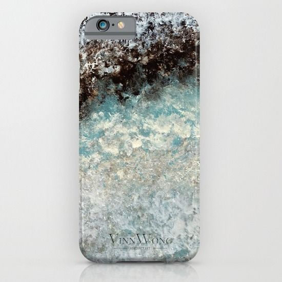 Mint, green and brown deep reefs inspired abstract phone case design for iPhone 6, iPhone 5S/C, iPod Touch, Galaxy s6/s5/s4 | International Shipping | Full collection www.vinnwong.com | Click to Shop or Pin it For Later!
