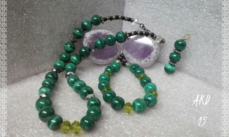 Malachite Nite - Jewelry creation by Annah Kay