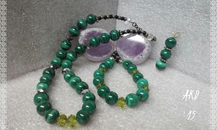 Malachite Nite - Jewelry creation by Annah Kay