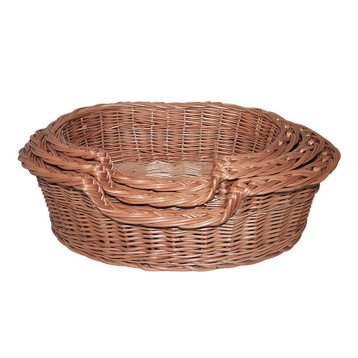 Wicker Cat Dog Bed Basket 3 sizes natural handcrafted healthy for pets willow