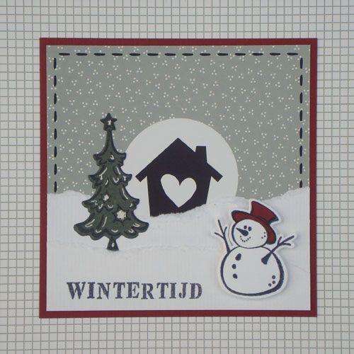 In dit blogbericht zie je 4 winterse kaarten met sneeuwpopjes.