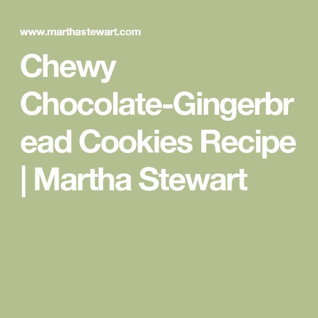 Chewy Chocolate-Gingerbread Cookies Recipe   Martha Stewart