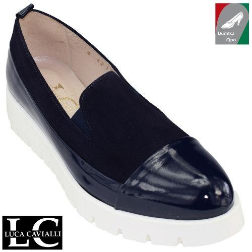 Luca Cavialli női bőr cipő 4211 kék/lakk