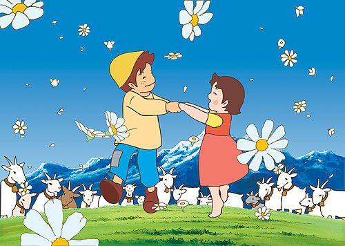 Heidi y Pedro. Dibujos buenos, amables, difíciles de encontrar ahora.