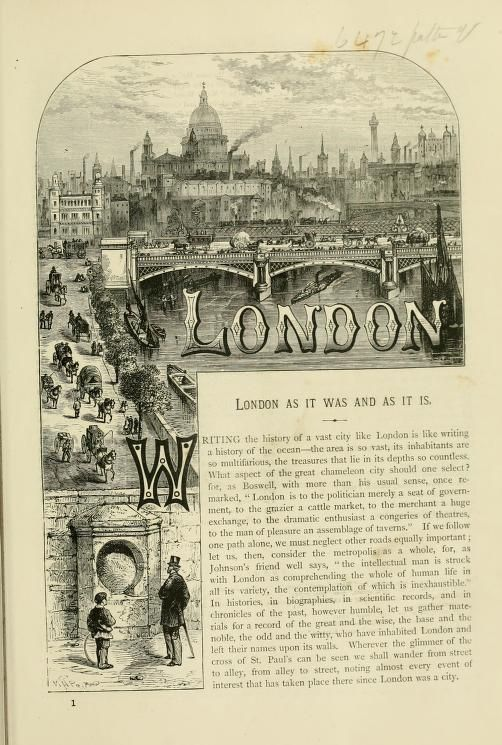 Old and new London : a narrative of its history...