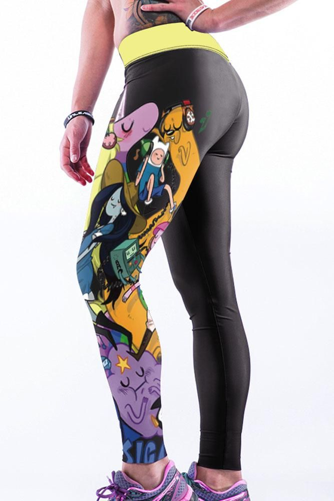 Sexy Cartoon 3D Printing Gym Jogger Leggings