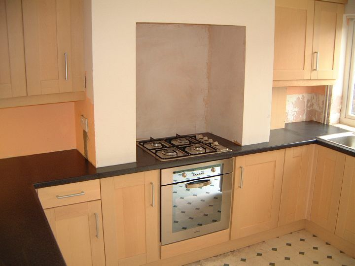 kitchen design around chimney breast installing cooker in chimney breast search new 945