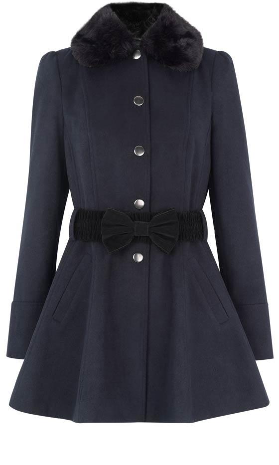 Primark AW12 Belted Fur Collar Winter Coat