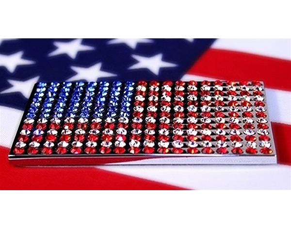 The License2Bling® Swarovski American Flag is the best way to show your patriotism. (starting at $26.95 at official dealer CARiD)American Flags, Swarovski American, Dealer Carid, Official Dealer