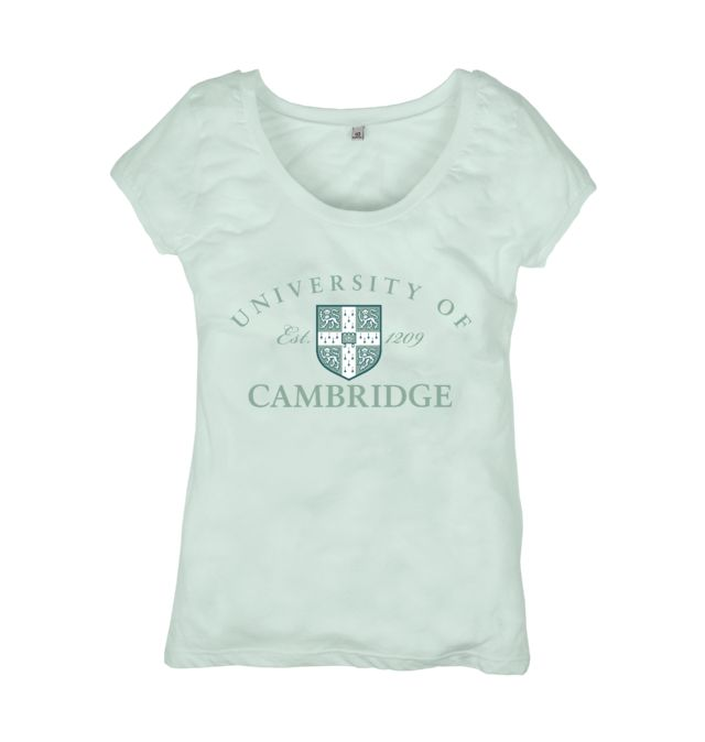 UoC Emblem Top: Our official University of Cambridge fashion and accessory collection helps support the University in its mission to contribute to society through the pursuit of education, learning and research at the highest international levels of excellence. #T-Shirt #sweatshirt #tote