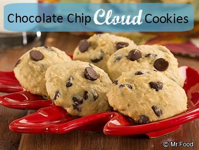 Chocolate Chip Cloud Cookies | Recipe | Healthy Cookie Recipes, Cloud ...