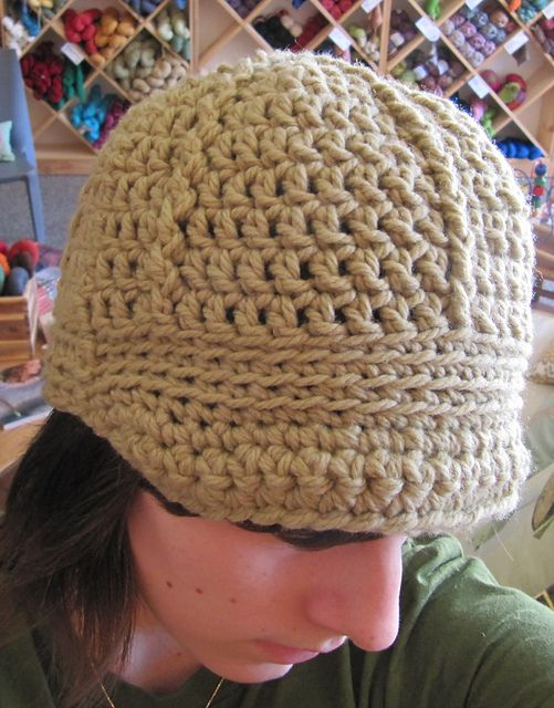crochet winter hat--great quick & easy gift (I finished it in 5 hours)
