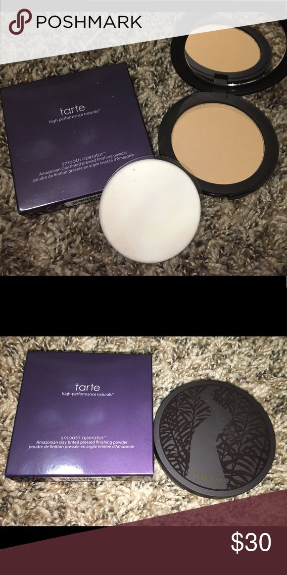 Brand new Tarte smooth operator Tarte smooth operator Amazonian Clay tinted pressed finishing powder. New and untouched. Bought online but the shade is not right for me. Shade is medium. tarte Makeup Face Powder