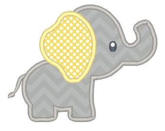 Elephant with Water Applique Design by JazzyZebraDesigns on Etsy