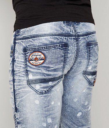 Fast & Furious Ace Moto Jean - Men's Jeans   Buckle
