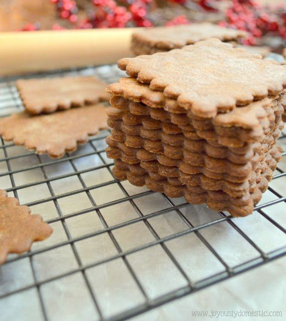 Joyously Domestic: Moravian Ginger Spice Cookie Thins