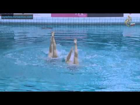 anita alvarez synchronized swimmer | Anita Alvarez/Mariya Koroleva (USA) Technical Duet Final Open Make Up ...