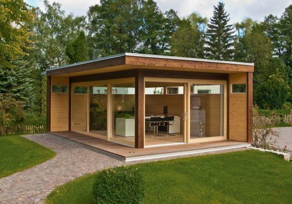 Die Besten 25+ Gartenhaus Flachdach Modern Ideen Auf