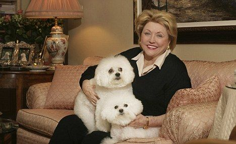 Barbara Taylor Bradford; great writer who loves dogs!