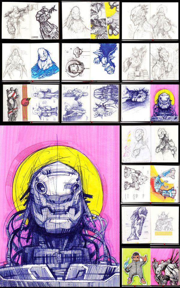 Sketchbook Illustrations by Artem Solop